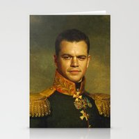 replaceface Stationery Cards featuring Matt Damon - replaceface by replaceface