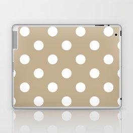 Polka Dots - White on Khaki Brown Laptop & iPad Skin