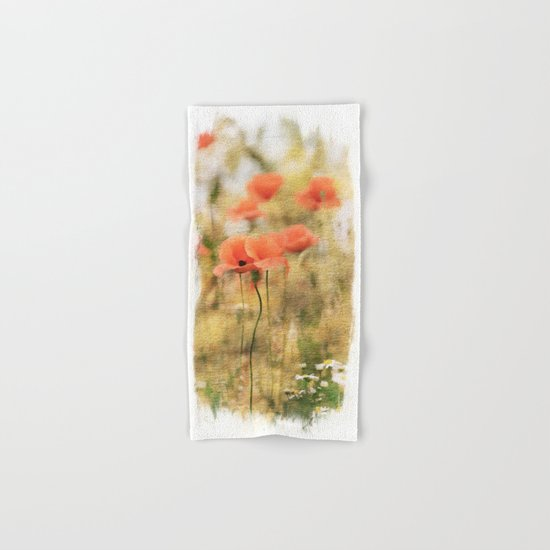 Poppy meadow -  photoadaption Hand & Bath Towel