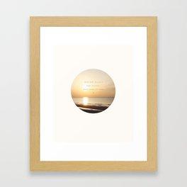 Midnight Doesn't Last Forever // Irresistible  Framed Art Print