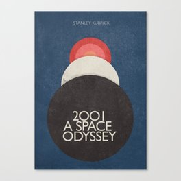2001 a Space Odyssey, Stanley Kubrick alternative movie poster, dark blue  classic film, cinema love Canvas Print