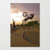 jay fleck Canvas Prints featuring Jay by Mike Shaheen