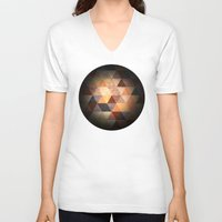 diamonds V-neck T-shirts featuring Diamonds by Tony Vazquez