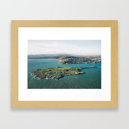 Aerial view of Dalkey Island Framed Art Print