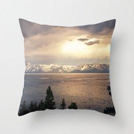 Changing Seasons at Lake Tahoe Throw Pillow