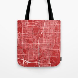 Fort Lauderdale Map, USA - Red Tote Bag