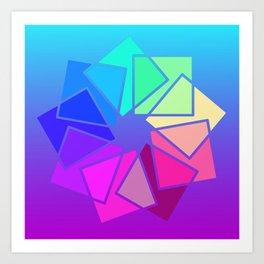 moving squares -02- Art Print