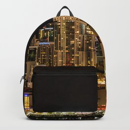 City of Miami at Night Backpack