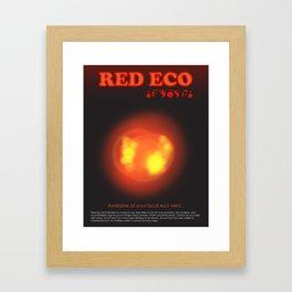 Red Eco Framed Art Print