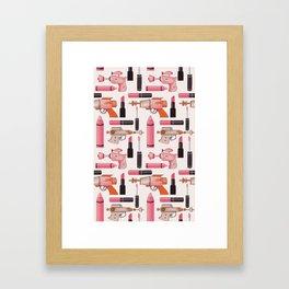 Lipsticks and Laserguns Framed Art Print