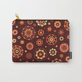 Mini Mandalas - Burgundy Carry-All Pouch