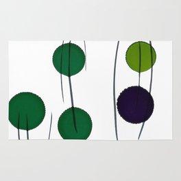Green Purple Drops Rug