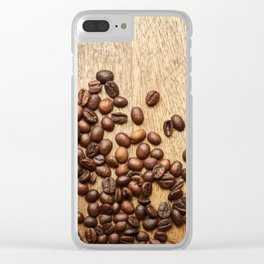 Morning Coffee Beans Clear iPhone Case