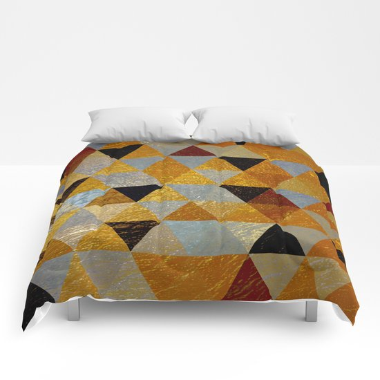 Abstract #382 Copper Foil Comforters