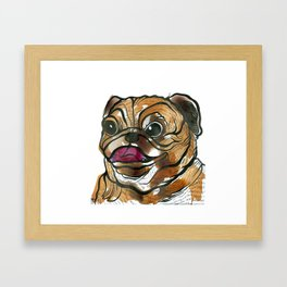 Old Tea Pug Framed Art Print
