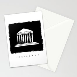 Parthenon in ink Stationery Cards
