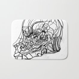 Dragon and human face Bath Mat
