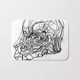 Dragon and human face Bath Mat