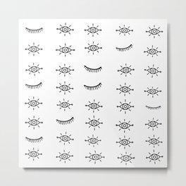 Eyes All Over Metal Print