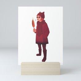 Devil and elote Mini Art Print