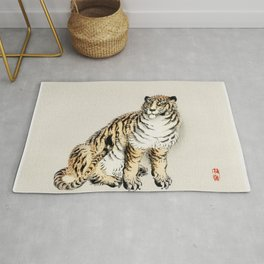 Tiger by Kōno Bairei Rug