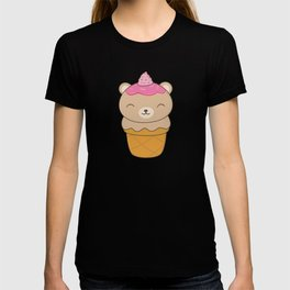Kawaii Bear Ice Cream Cone T-shirt