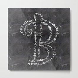 Chalkboard  B letter Metal Print