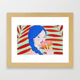 Something Sweet Framed Art Print