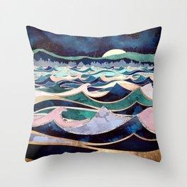 Moonlit Ocean Throw Pillow