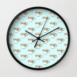 Teacup Pattern Wall Clock
