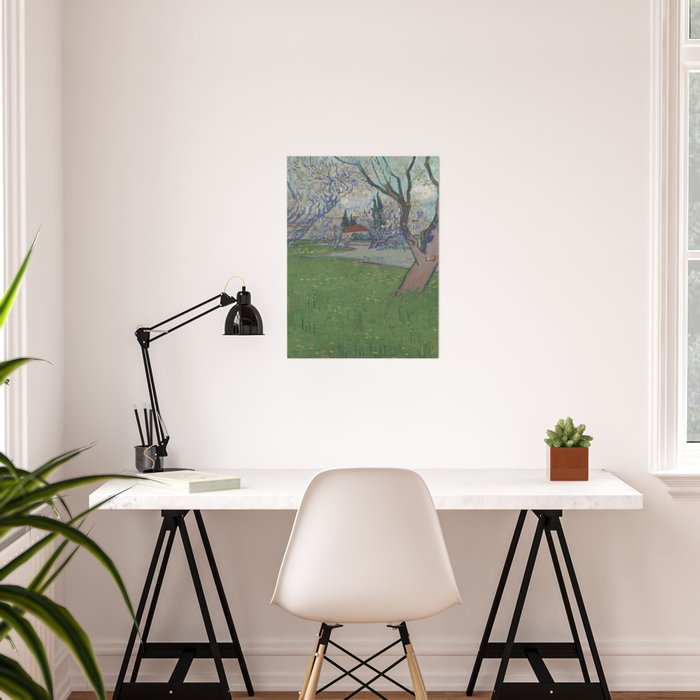 Orchards in Blossom, View of Arles Poster
