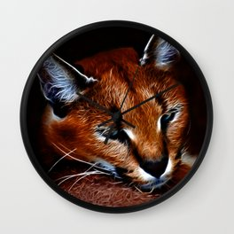 Karakul wildcat Wall Clock