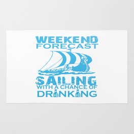 WEEKEND FORECAST SAILING Rug