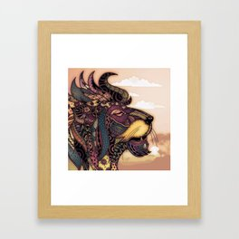 Lion king of the jungle Framed Art Print