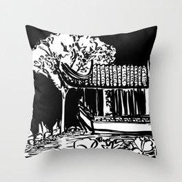 Chinese Garden Throw Pillow