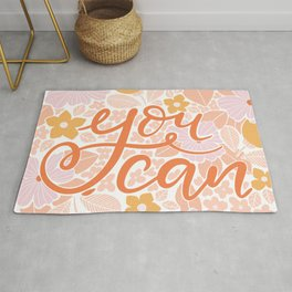 You can - hand lettering Rug