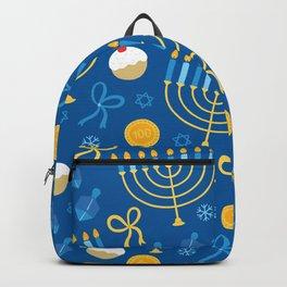 Hanukkah Menorah Pattern Backpack