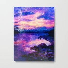 Abstract Sunburst Beach Metal Print