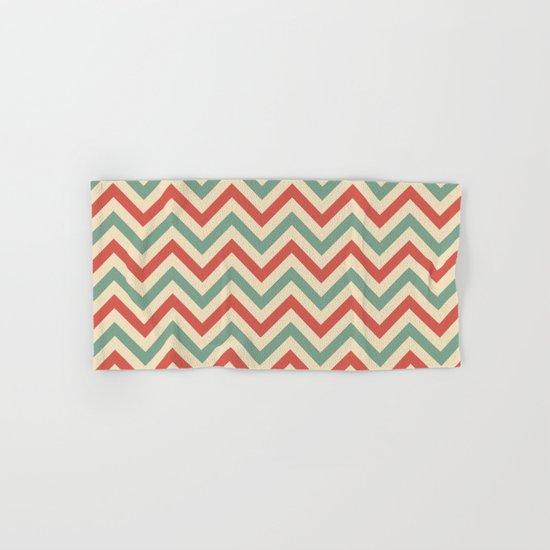 Retro zigzag pattern Hand & Bath Towel