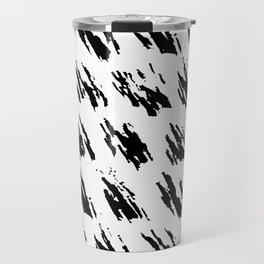 Polka Splotch Black Ink on Paper Travel Mug