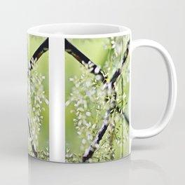 Blades Of Grass On Wire Fence Coffee Mug