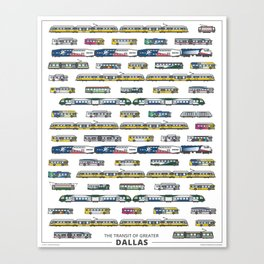 The Transit of Greater Dallas Canvas Print