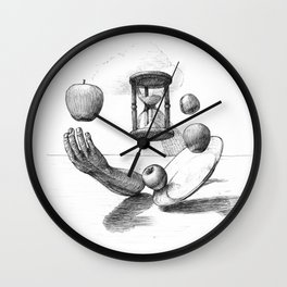 Apples and sandwatch Wall Clock