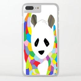 Patchwork Panda Clear iPhone Case