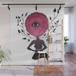 Divine Flower Woman Wall Mural