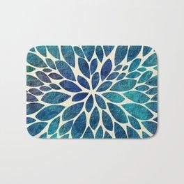 Petal Burst - Turquoise Bath Mat