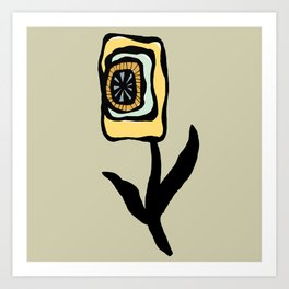Square Flower Three Art Print