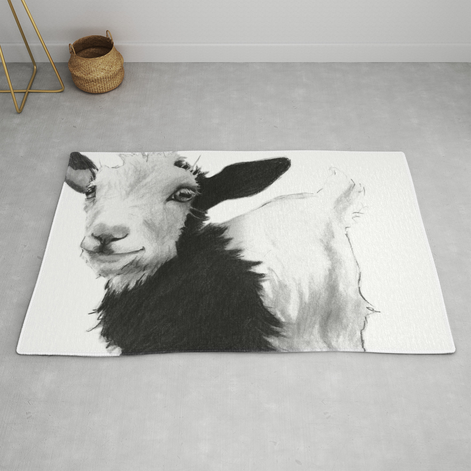 Smile Goat Rug By Maggiestiefvater