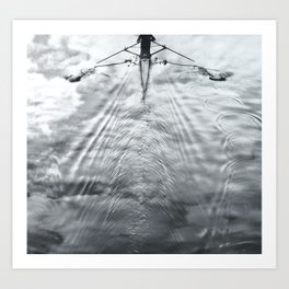 Rowing on a River of Clouds Art Print
