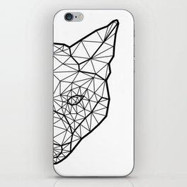 Geometric / Low Poly Fox (Black) iPhone Skin